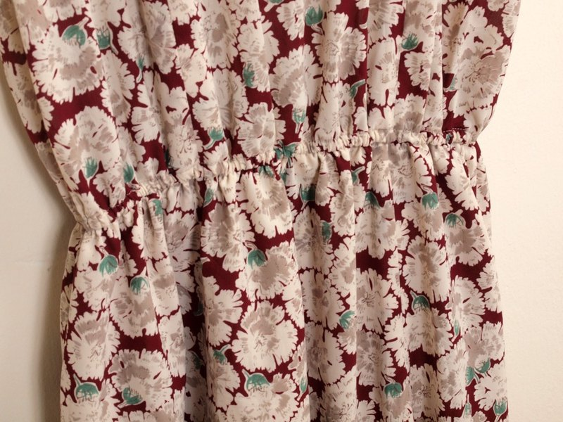 │moderato│ floral retro vintage dress │ Forest. England. Young artists