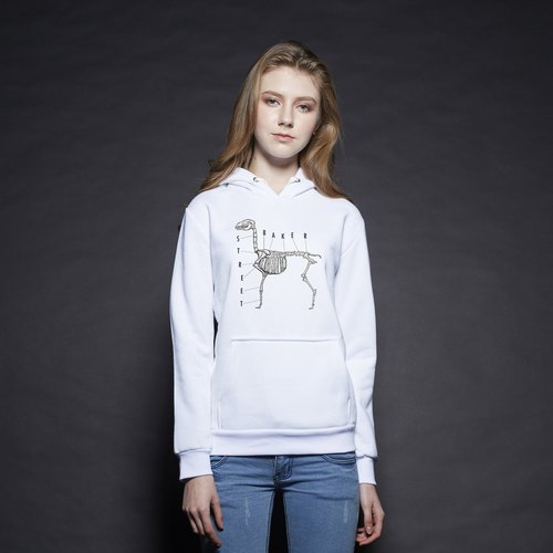British Fashion Brand [Baker Street] Alpaca Bone Printed Hoodie