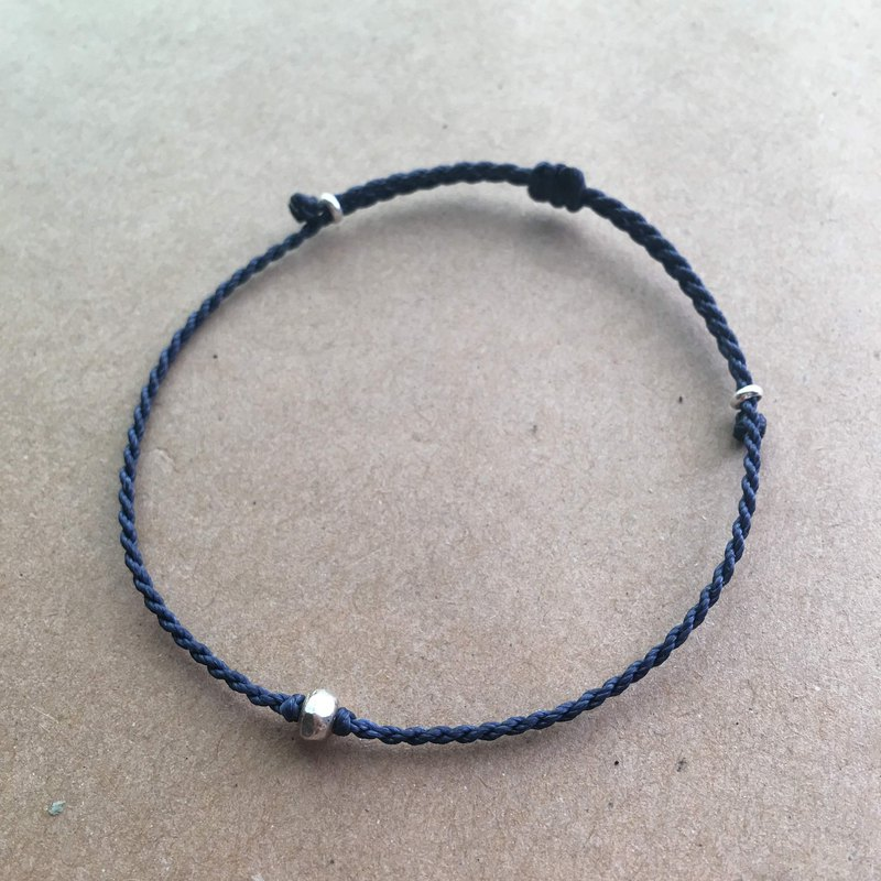 Handcuffs series simple simple simple bracelet 925 sterling silver Japanese wax line