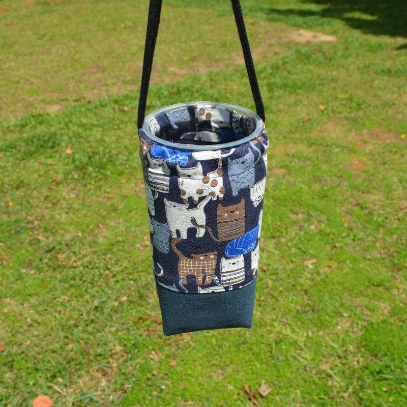 Cute cats beverage bag/water bottle holder/beverage carrier/bunch pocket