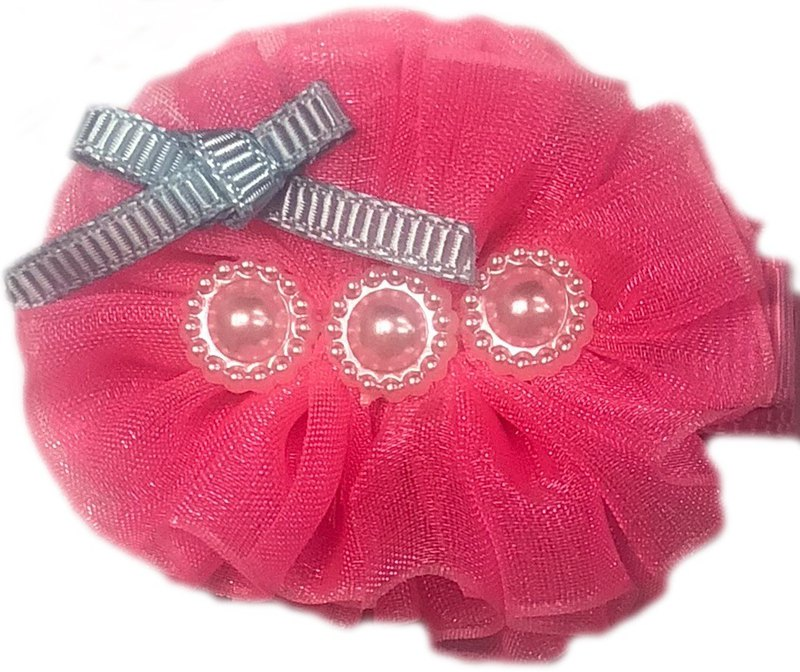 Cutie Bella All Inclusive Handmade Hair Accessories ChiffonPearl Hair Clip - RosePink