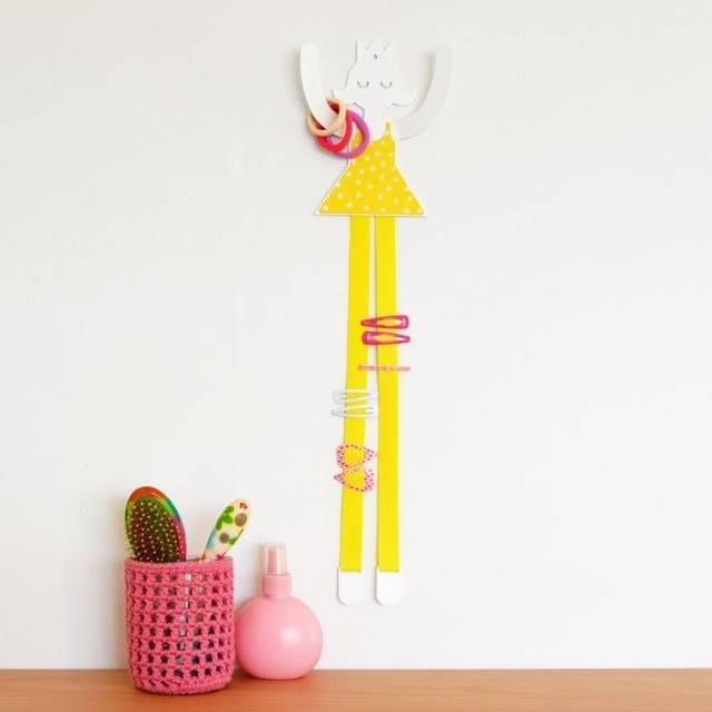 Princess hair ornaments storage hook (yellow)
