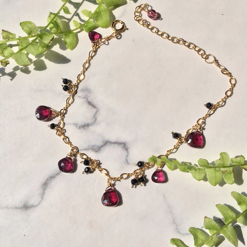Handmade jewelry red heart queen garnet