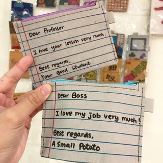 Dear Professor / Dear Boss | Washed kraft paper. Hand-painted scattered package