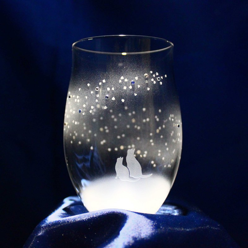 [To the blue Milky Way] tumbler glass of cat motif vol. 6