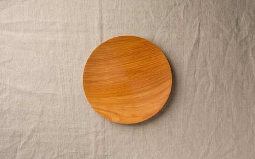 Wood 18cm 15 of the potter's wheel grind of wooden plate Zelkova (Zelkova)