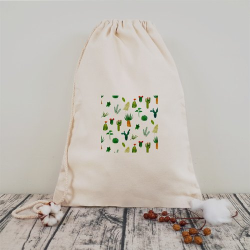 [Pattern] cute succulent plant pattern harness bag