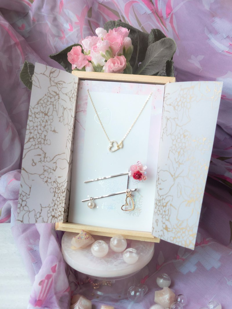 Bobby Pin + Sweet Heart S925 Necklace