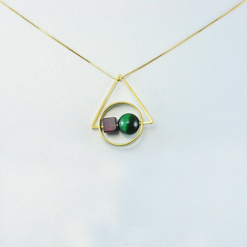 Geometric Natural Stones 925 Silver Necklace -【 HOME - A GIFT for Her II】