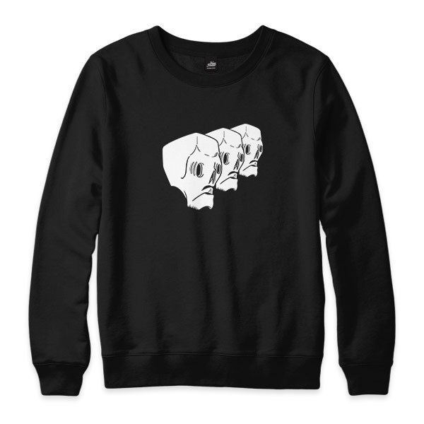 Skull gang - black - neutral version University T