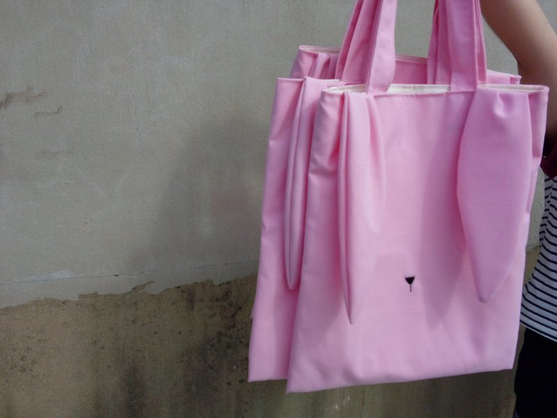 Rabbit tote bag (pink)