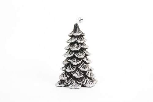 Silver Christmas tree candle