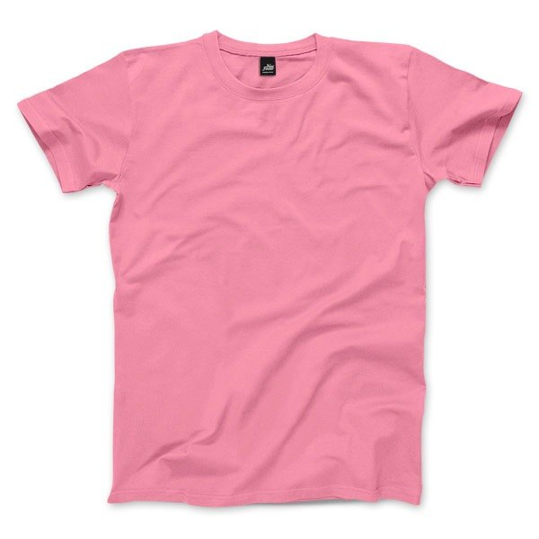 Neutral plain short-sleeved T-shirt - Peach Red