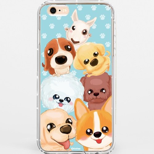 ★ GiftPaint ★ painted gift painted pet dog & high permeability clear Corner phone shell drop resistance