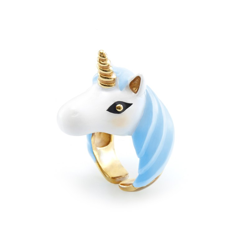 Sky Blue Unicorn Ring