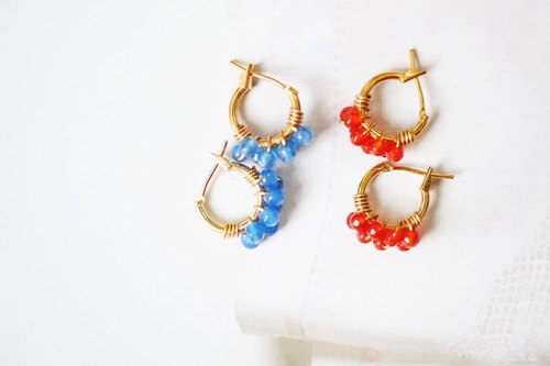 ::jiejie:: Happy circle Happy Circle │ Blue Agate Earrings