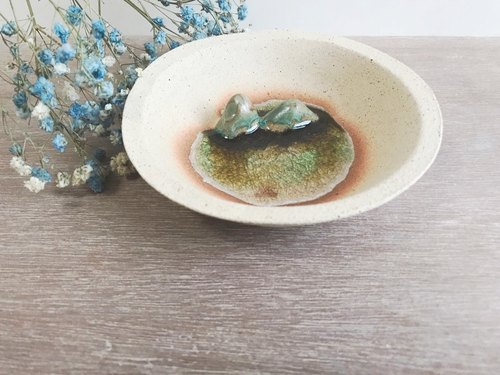 Beautiful scenery- Handmake Ceramic Jewellery plate