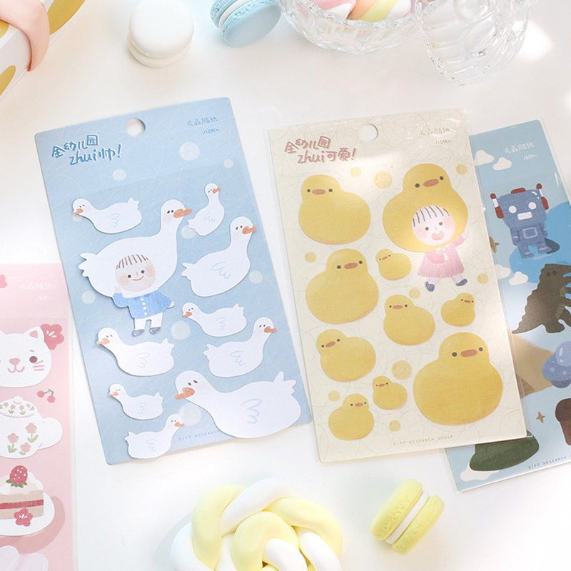 Gift sticker children series cute cute boy girl animal alphabet label decoration stationery