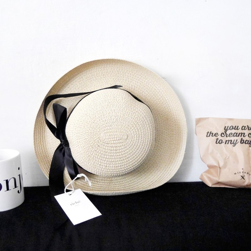 Summer limited French straw hat