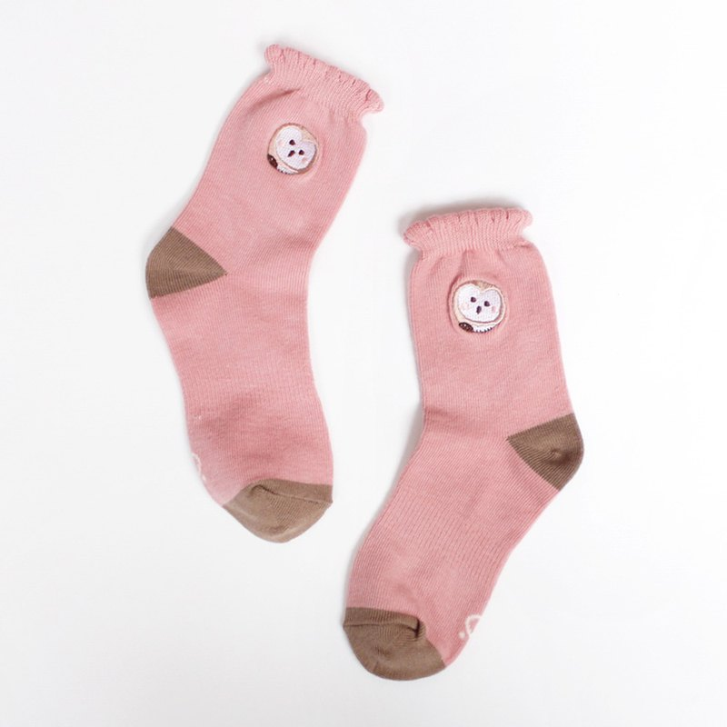 MIT grass lace Laika combed cotton socks