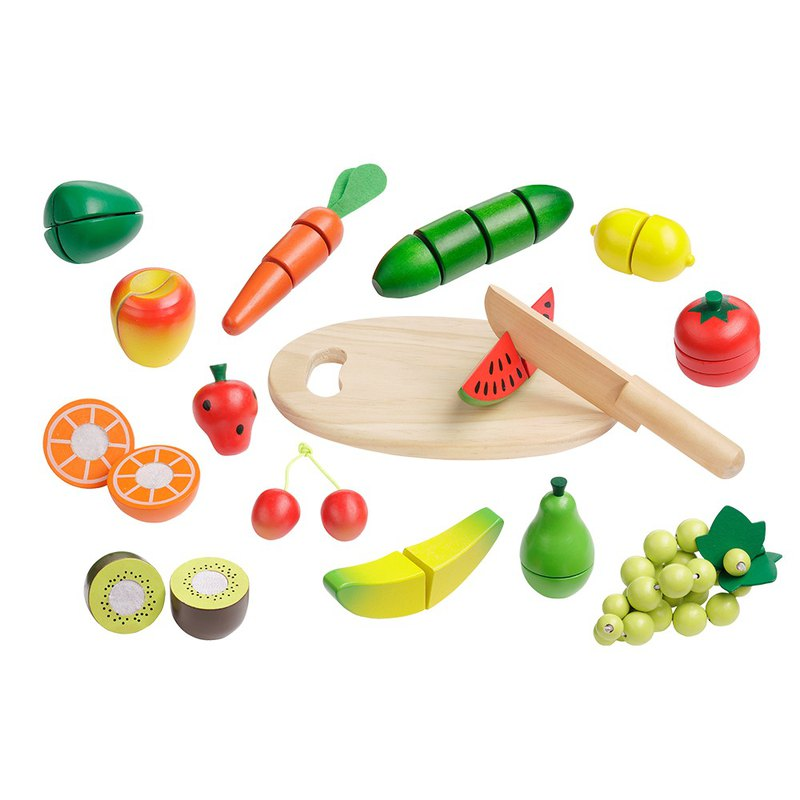 Fruit and vegetables cut everything. Wooden play accessories set