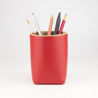 Pencil Holder, Brush Holder, Storage Box, Desk Organization, Red