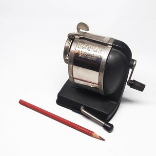 1980s Vintage BOSTON Vacuum Mount Self feeder antique pencil sharpener