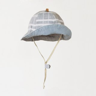 Yarn-dyed light grey children's visor
