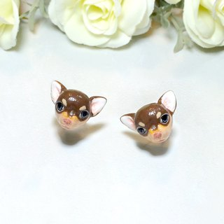 Chihuahua Dog Earrings, Dog Stud Earrings, dog lover gifts