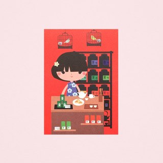 [Girls and Their Shops] jasmine's tea shop - Postcard