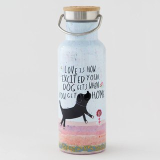 Stainless steel wide mouth insulation / cold water bottle 18oz- Love Is∣WB043