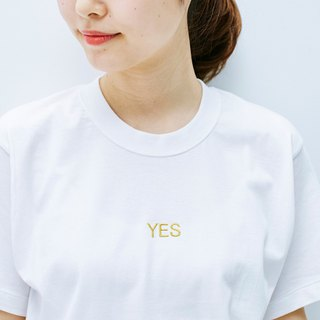 Yes/No Embroidered T-shirt(Unisex design)