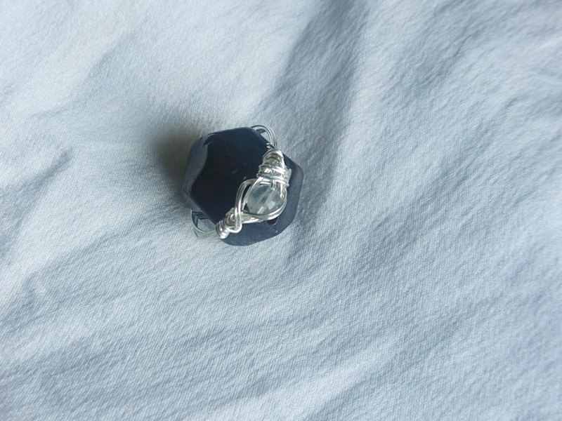 Secret - Moonstone Ring S999 Silver Moonstone with casual creation of only one