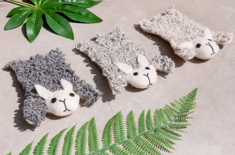 Christmas gift ethnic wind forest wool felt coaster animal animal coaster - sheep absorbent coaster