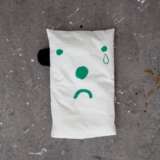 Expression Pillow Case (Green) – Happy/Sad pillow case (Green)