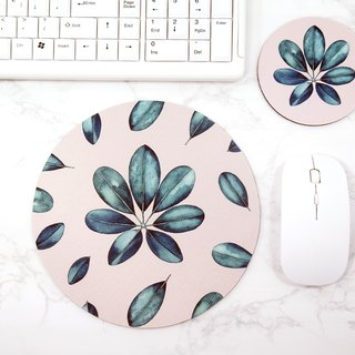 Botanical Art Mouse pad Desk Decor Coaster Set