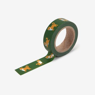 Dailylike single roll of paper tape -110 Shiba Inu, E2D03923