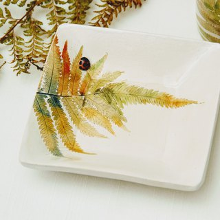 Small fern square plate