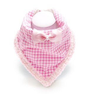 Fashion small fragrance mouth towel - pink houndstooth small fragrance lace