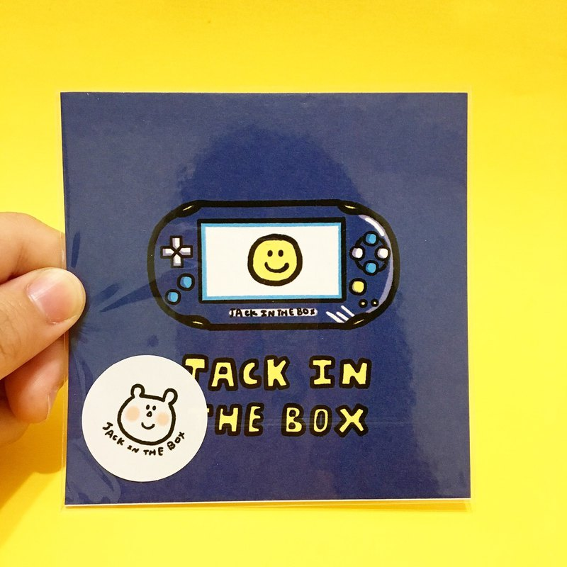 Jack in the box electric toy series square small card 5 there are a variety of optional