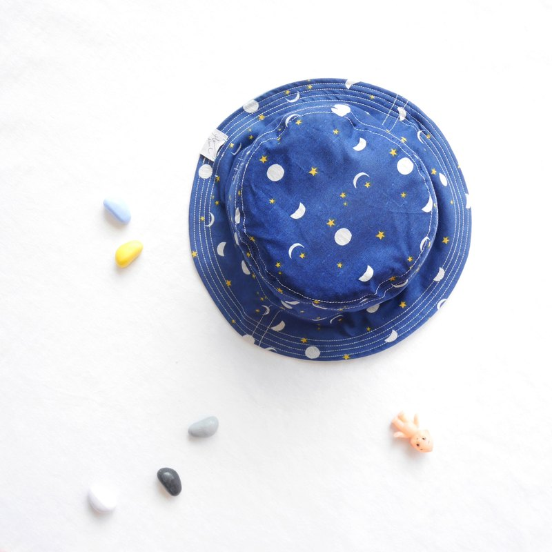 Summer Double Sided Fisherman Hat Series | Moon Starry Sky