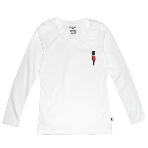 British Fashion Brand [Baker Street] Little Stamp:Grenadier Guard  Printed Long Sleeve