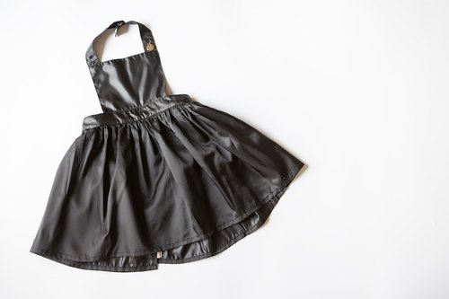 [my little princess] staff hand temperament dark children apron skirt _ Japan light waterproof cloth