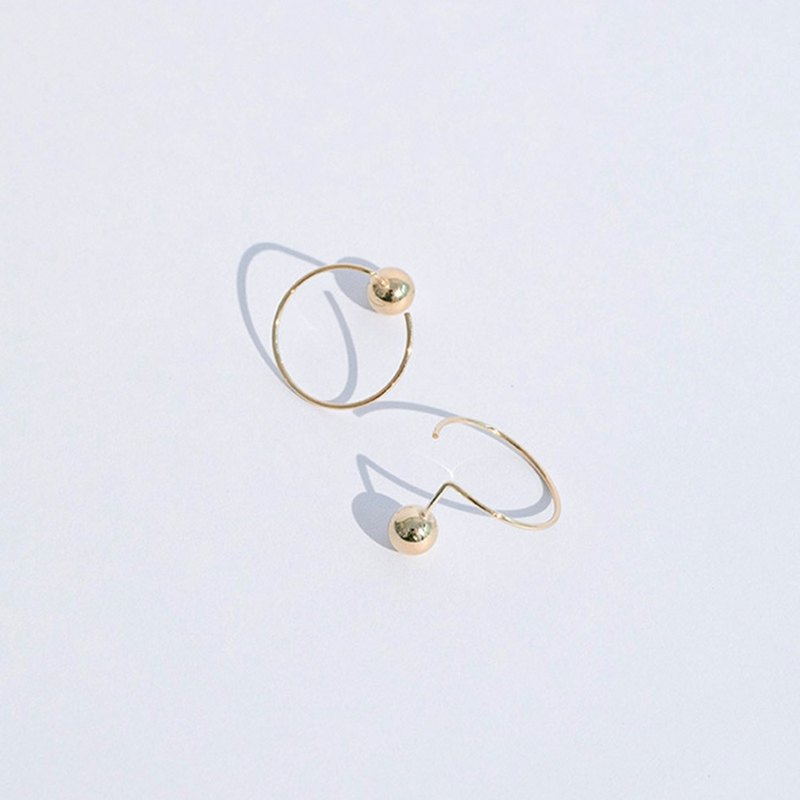 Round track earrings / 925 sterling silver / gold / ear hook / earrings