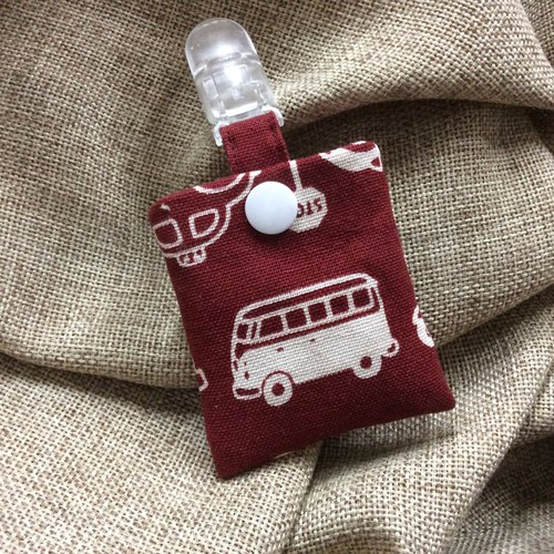 Peace symbol bags | keychain | Claret bottom - small bus
