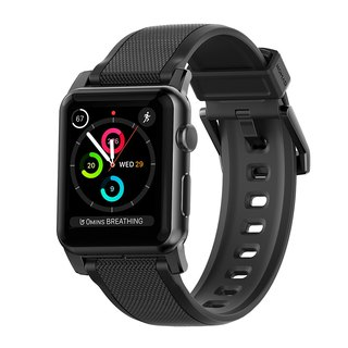 US NOMAD (Ultra Slim Silicone Watch for Apple Watch)-Black (856504004033)