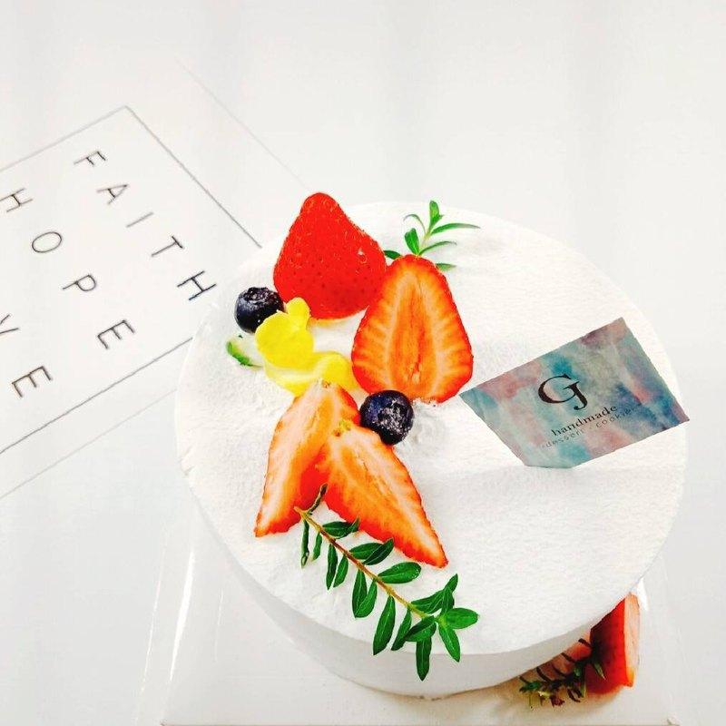 莓那麼簡單 生日蛋糕 客製蛋糕  4 6 8吋  限台南面交