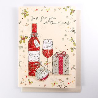 Champagne glass and beautiful gift Christmas card [Ling Design-card Christmas series]