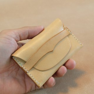 Hand-stitched leather business card holder/card holder