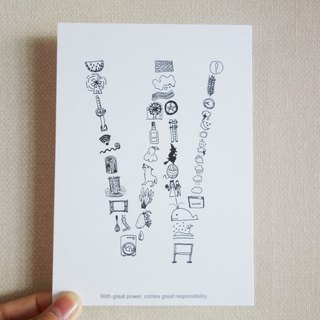 AZ English alphabet creative graffiti postcard <W>